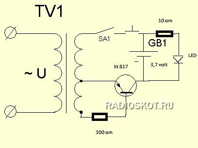 Схема электрошокера Схема