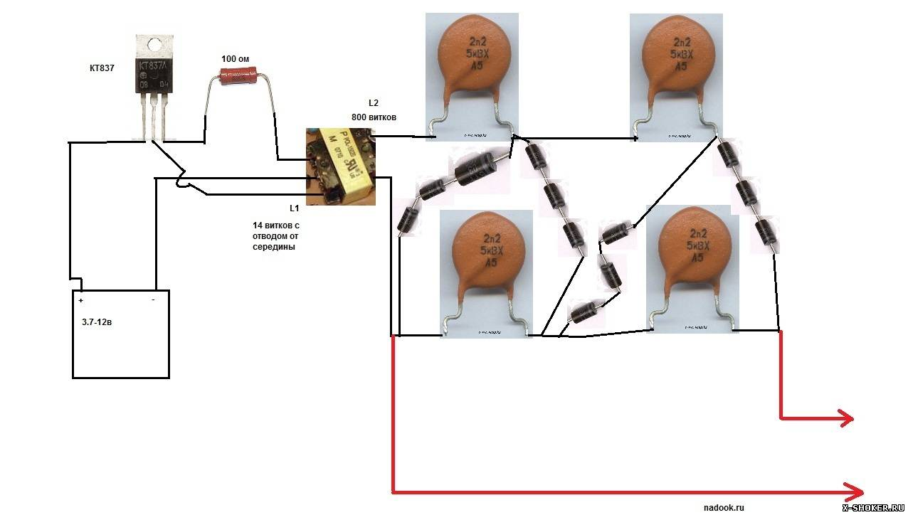Электрошокер своими руками инструкция картинки схема