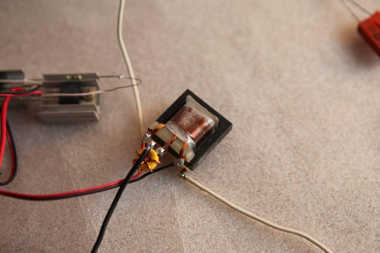 схема электрошокера одной катушке