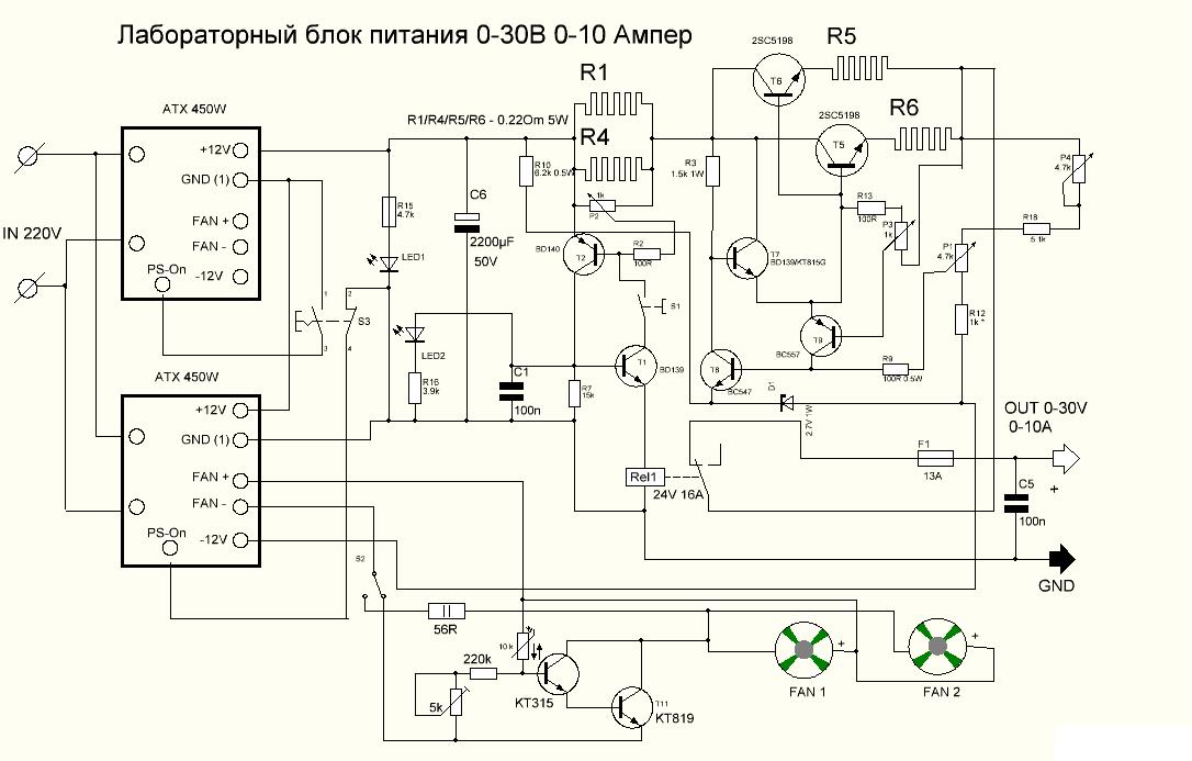 Лабораторный блок питания схема tl081
